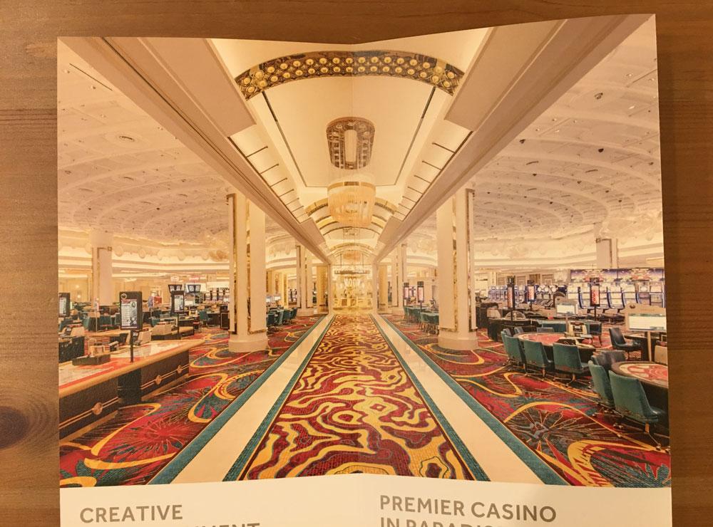 パラダイスカジノのパンフレットの画像